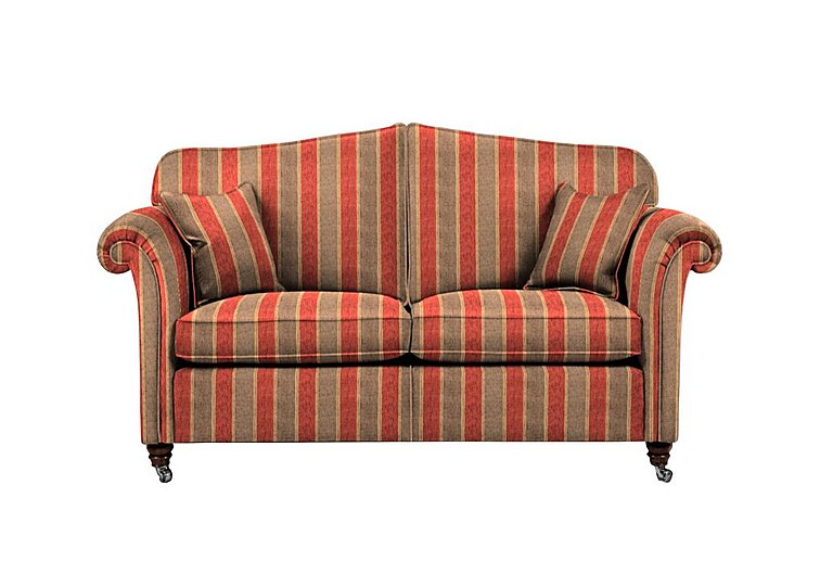 Mayfair 2 Seater Fabric Sofa in Althorp Stripe Russet/Stone on FV