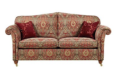Mayfair 3 Seater Fabric Sofa in Althorp Russet/Stone on FV
