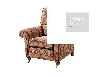 Mayfair Fabric Armchair in Althorp Russet/Stone on FV