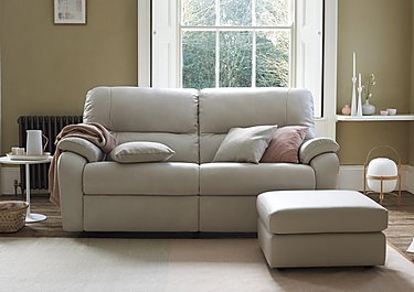Mistral 2 Seater Leather Recliner Sofa in  on FV