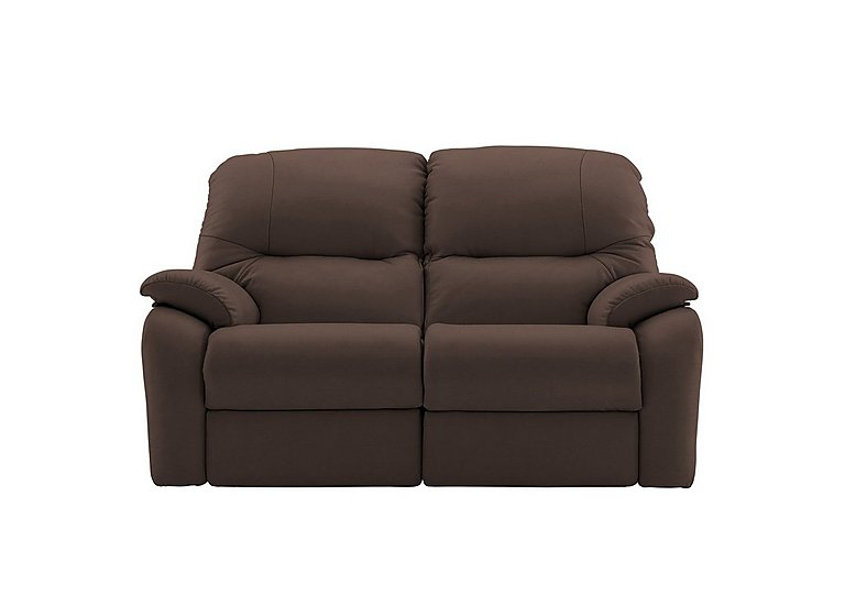 Mistral 2 Seater Leather Recliner Sofa in P200 Capri Chocolate on FV