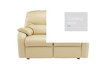 Mistral 2 Seater Leather Recliner Sofa in P206 Capri Cream on FV