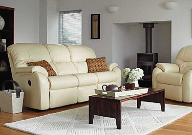 Mistral 3 Seater Leather Recliner Sofa in  on FV