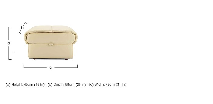 Mistral Leather Footstool  in {$variationvalue}  on FV