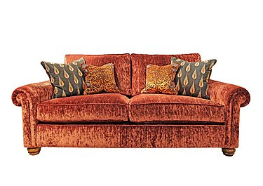 Monsoon 2.5 Seater Fabric Sofa in Hugo - Brick Red on Furniture Village