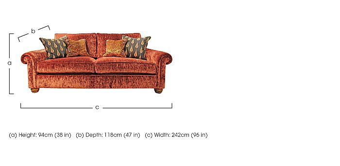 Monsoon 3 Seater Fabric Sofa in  on FV