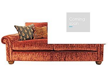 Monsoon 3 Seater Fabric Sofa in Hugo - Brick Red on FV
