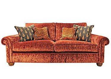Monsoon 3 Seater Fabric Sofa in Hugo - Brick Red on FV