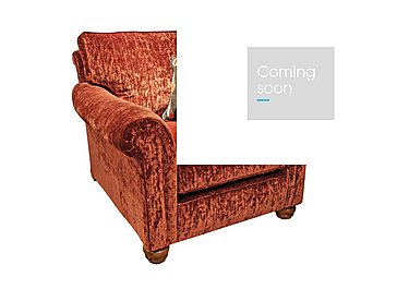 Monsoon Fabric Armchair in Hugo - Brick Red on FV
