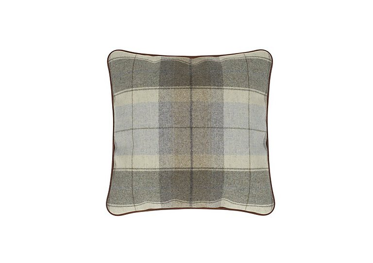 New England Medium Scatter Cushion in Blanket Plaid Sky on FV