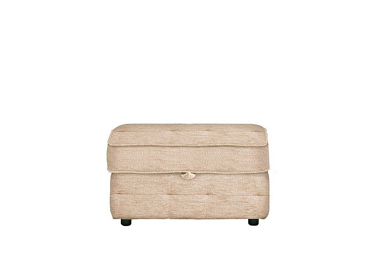 Oakland Storage Stool in A071 Boucle Oyster on Furniture Village