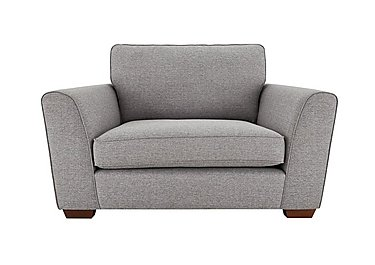 High Street Oxford Street Fabric Loveseat in Salta  Ash on FV