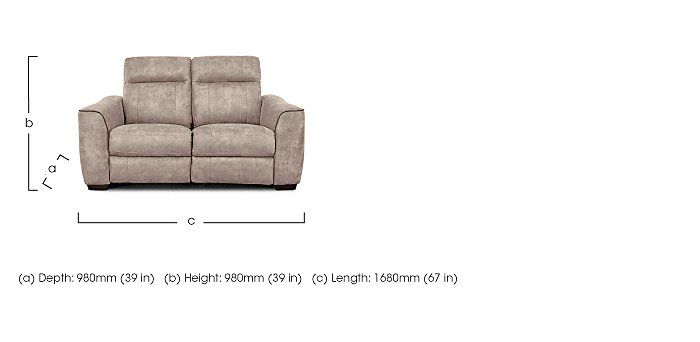 paloma 2 seater sofa - furniture village
