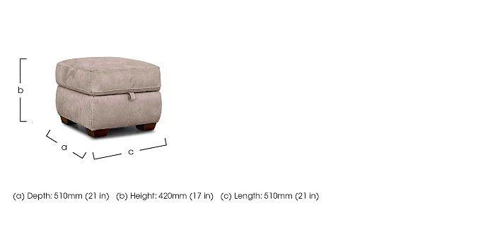 Paloma Fabric Storage Footstool in  on FV