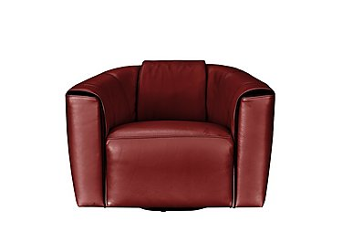 Perno Leather Accent Armchair