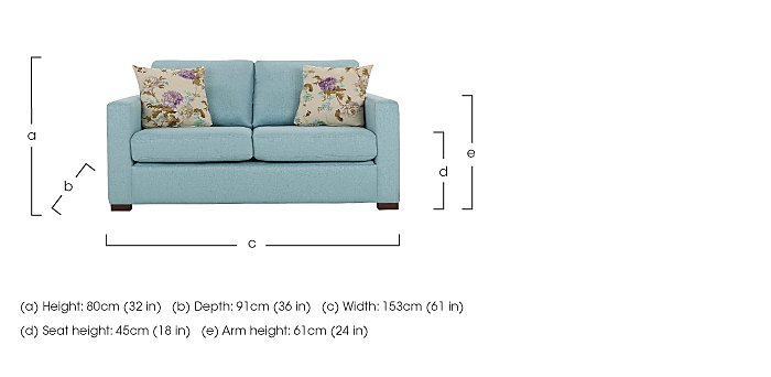 Petra 2 Seater Fabric Sofa in  on FV