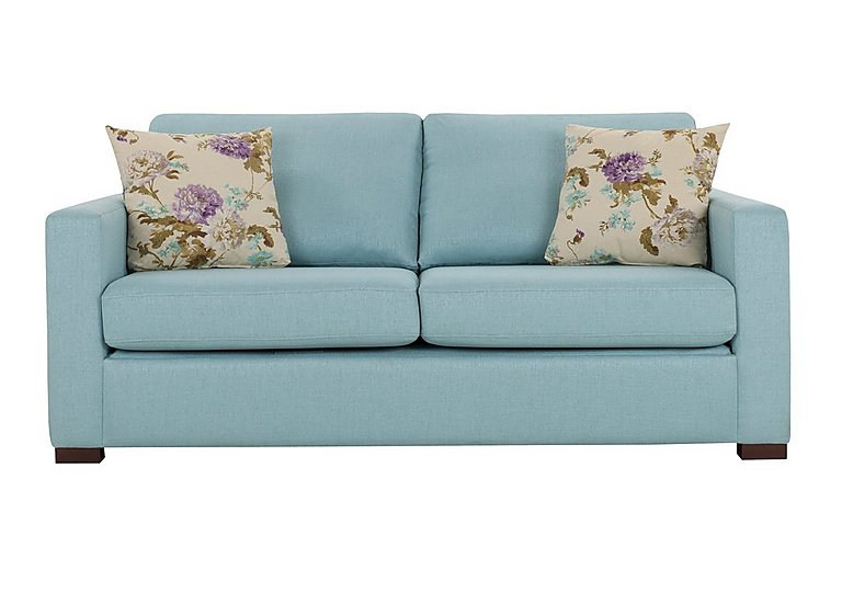 Petra 3 Seater Fabric Sofa in Marbella Turquiose 38 on FV