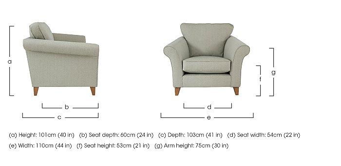 High Street Regent Street Fabric Armchair in  on FV