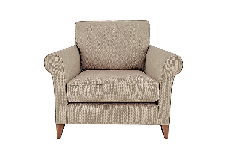 High Street Regent Street Fabric Armchair in Kentmere Putty on FV