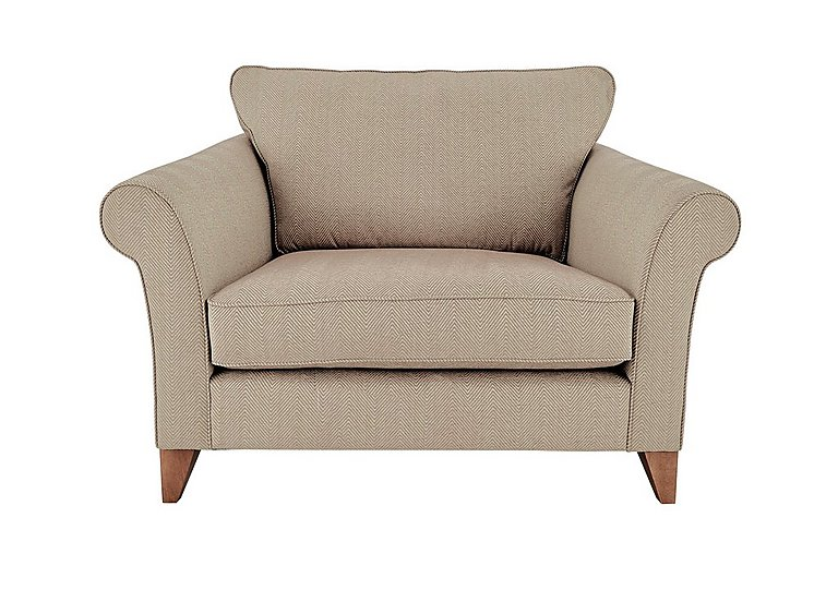 High Street Regent Street Fabric Love Seat in Kentmere Putty on FV