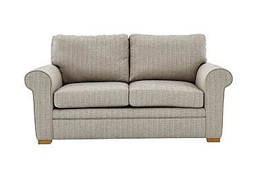 Reigate 2 Seater Fabric Sofa in A363 Beige Light Natural Feet on FV