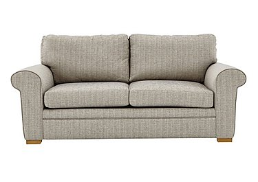 Reigate 3 Seater Fabric Sofa in A363 Beige Light Natural Feet on FV