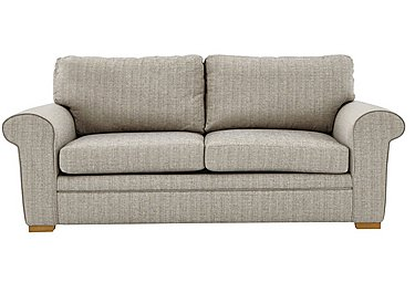 Reigate 4 Seater Fabric Sofa in A363 Beige Light Natural Feet on FV