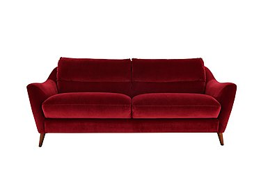 Remy 2 Seater Fabric Sofa in Luxor Cranberry- 80371 on FV