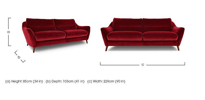 Remy 3 Seater Fabric Sofa in  on FV