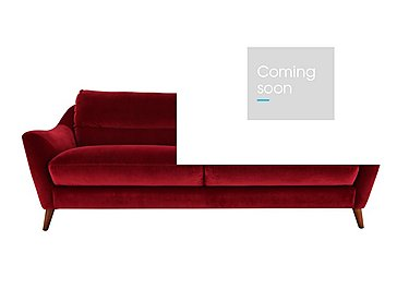Remy 3 Seater Fabric Sofa in Luxor Cranberry- 80371 on FV