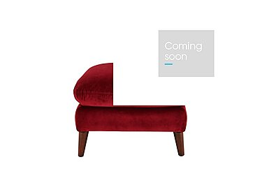 Remy Fabric Footstool in Luxor Cranberry- 80371 on FV