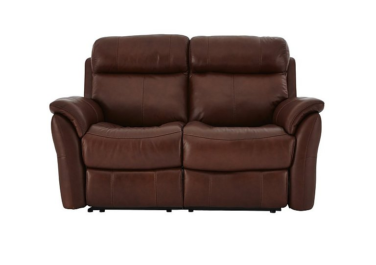 Relax Station Revive 2 Seater Leather Recliner Sofa in Sk-297e Cumin on FV