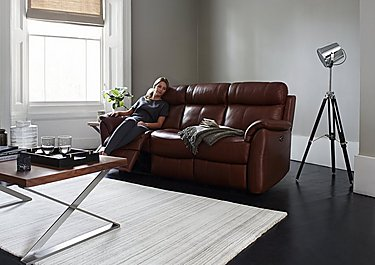 Relax Station Revive 3 Seater Leather Recliner Sofa in  on FV
