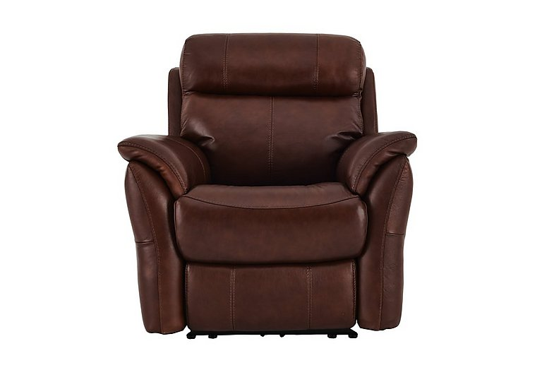 Relax Station Revive Leather Recliner Armchair in Sk-297e Cumin on FV