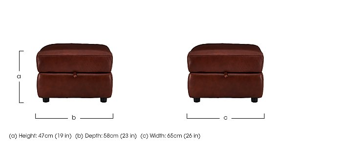 Relax Station Revive Leather Storage Footstool in  on FV