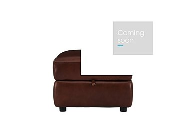 Relax Station Revive Leather Storage Footstool in Sk-297e Cumin on FV