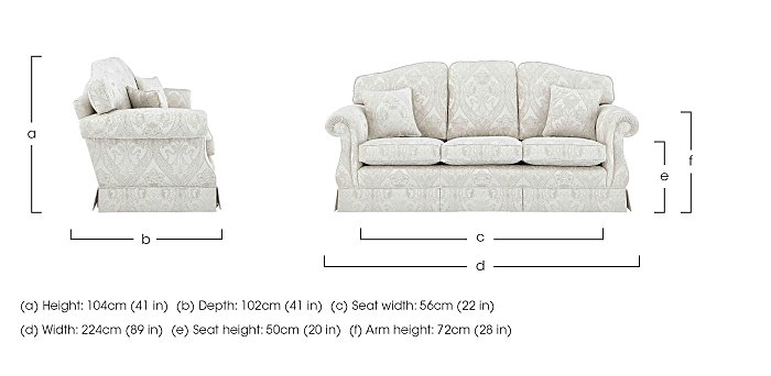 DG Sandringham 3 Seater Fabric Sofa in  on FV
