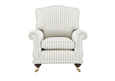 DG Sandringham Fabric Armchair in Pendragon Stripe Oyser Dis Wal on FV