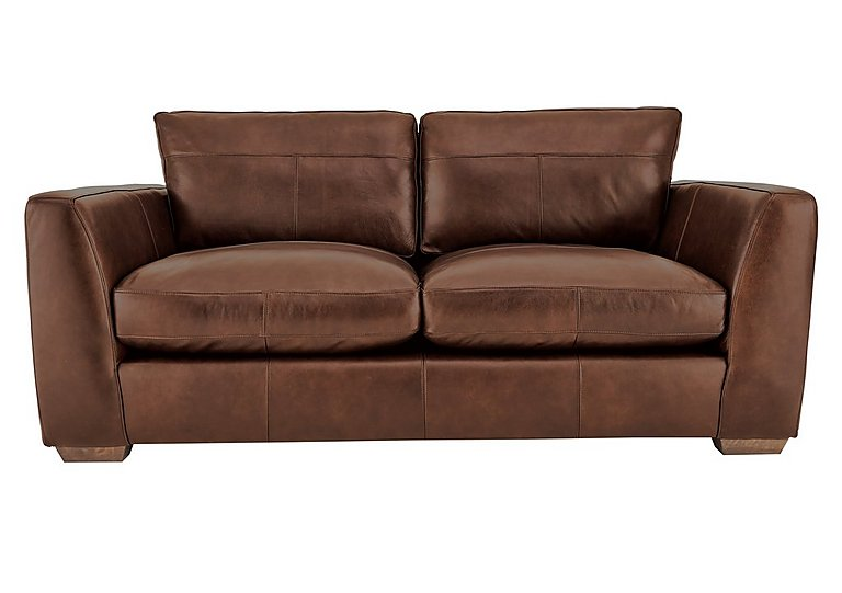 Savannah 2 Seater Leather Sofa in Byron Tumbleweed on Furniture Village