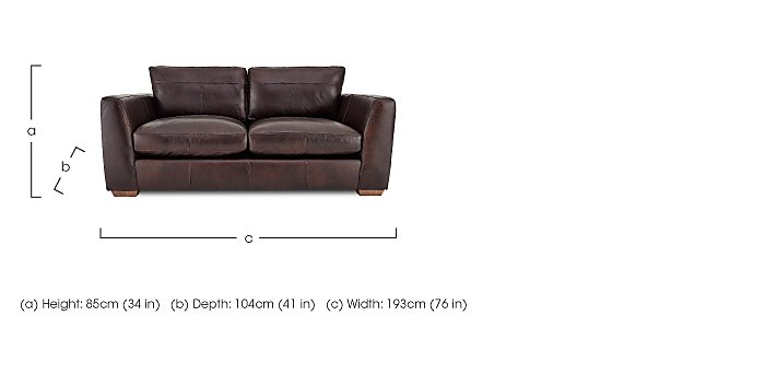 Savannah 2 Seater Leather Sofa in  on FV