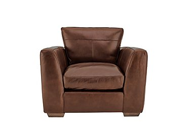 Savannah Leather Armchair in Byron Tumbleweed on FV