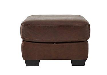 Savannah Leather Storage Footstool in Byron Tumbleweed on FV