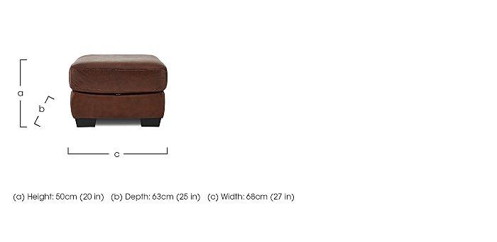Savannah Leather Storage Footstool in  on FV
