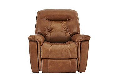 Seattle Leather Recliner Armchair in Sk-598d Caramel- on FV