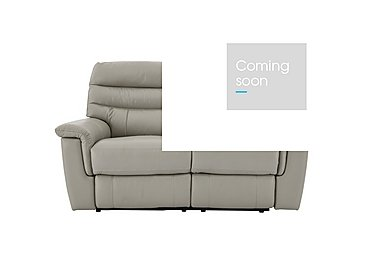 Relax Station Serenity 2 Seater Leather Recliner Sofa in Bv-946b Silver Grey on FV