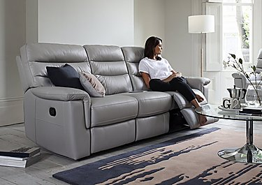Relax Station Serenity 3 Seater Leather Recliner Sofa in  on FV