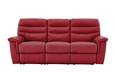 Relax Station Serenity 3 Seater Leather Recliner Sofa in Bv-0008 Pure Red on FV
