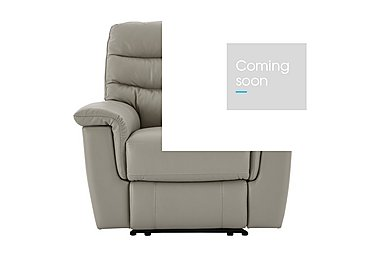 Relax Station Serenity Leather Recliner Armchair in Bv-946b Silver Grey on FV