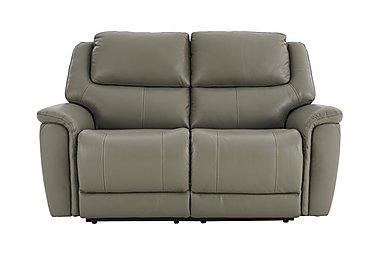 Sheridan 2 Seater Leather Recliner Sofa in 55/64 New Club Grey on FV