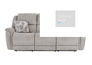 Sheridan 3 Seater Fabric Recliner Sofa in 5th Ave Plain Nickel 40526 on FV